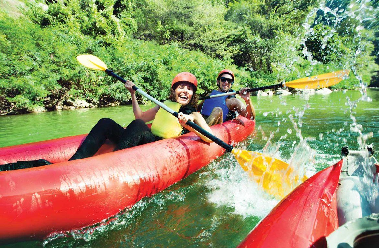 kayak en Río Genil